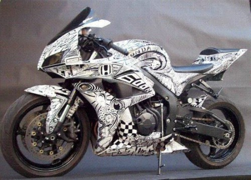 Sharpie+Art+Bike+2 500x360 sharpie art cars and bikes make you want to draw on your transportation