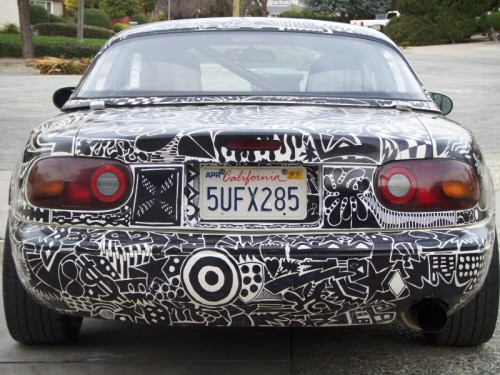 Sharpie Art Cars and Bikes Make You Want to Draw on Your Transportation #sharpiesquad SpecSharpieProjectpics008 500x375 