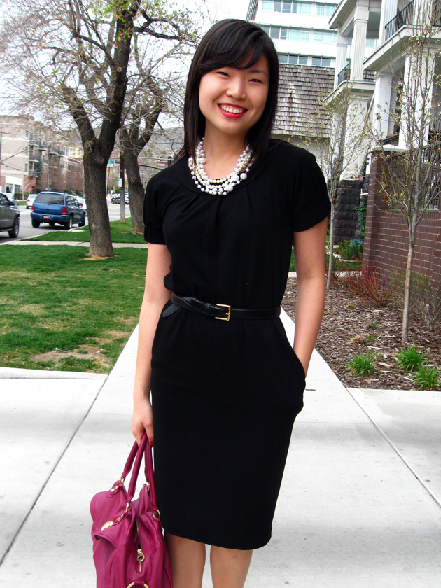 black dres Clothed Much: Classy Office Fashion