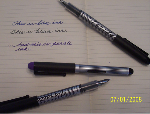 pilot varsity fountain pens Make Your Own Thank You Cards