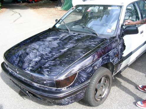 Sharpie Art Cars and Bikes Make You Want to Draw on Your Transportation #sharpiesquad sharpie+art+car 