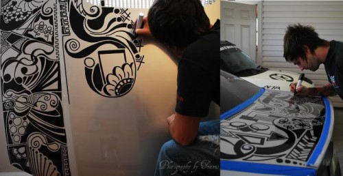 Sharpie Art Cars and Bikes Make You Want to Draw on Your Transportation #sharpiesquad sharpie2 500x258 