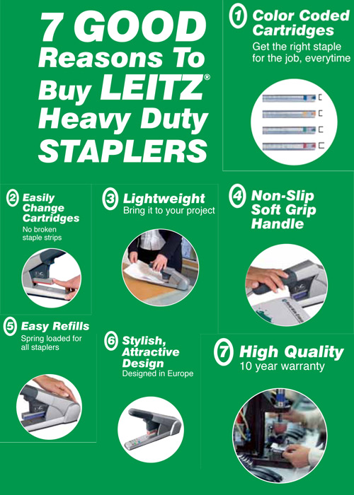 LEITZ STAPLER Leitz Color Coded Staples and Stapler Giveaway!