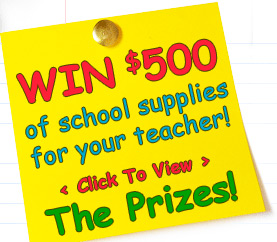 view prizes1 Does Your Teacher Rock? Win them School Supplies!
