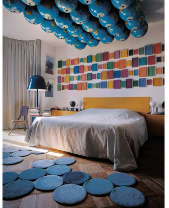 1 23 09 globe ceiling around the world inspiration: globes in your office