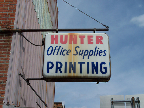 4278129505 0db17b9268 remembering the good days with office supply signs.