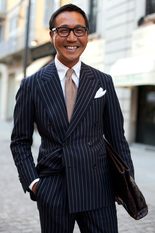 62210Pinstripe 5171Web The Sartorialist: Get Creative with Office Fashion