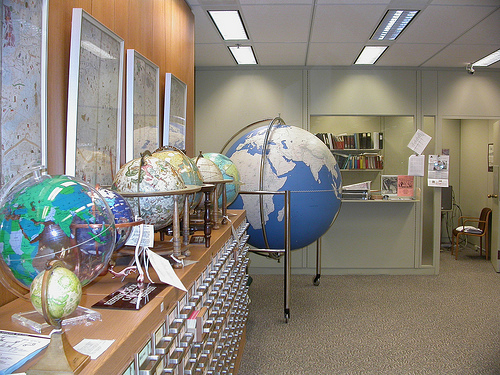 Library of Congress Reading Room Kiermaier Globe far right around the world inspiration: globes in your office