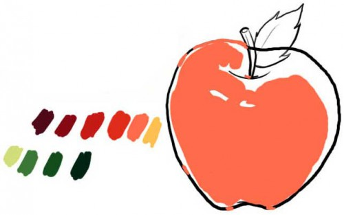 draw an apple 03 500x313 Inspiration for Your My Teacher Rocks Contest Apple