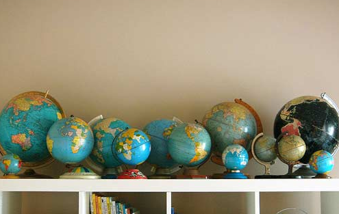 globes around the world inspiration: globes in your office