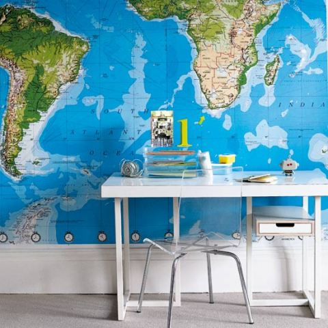 home office2 around the world inspiration: globes in your office