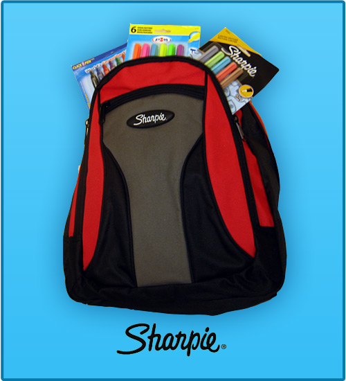 sharpie backpack Win a Sharpie Backpack Full of Prizes! 