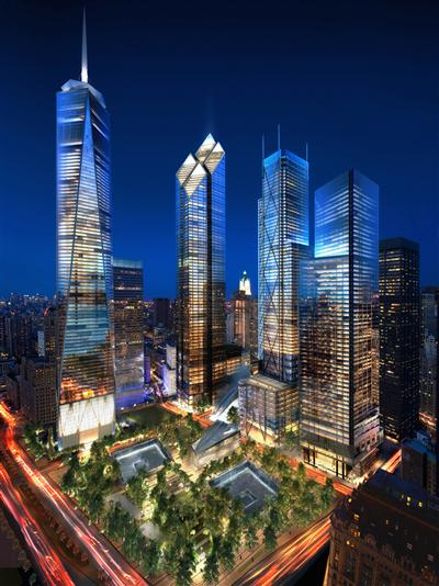 18 31 World Trade Center by Night credit dbox courtesy SPI 1 best new office space   the wtc