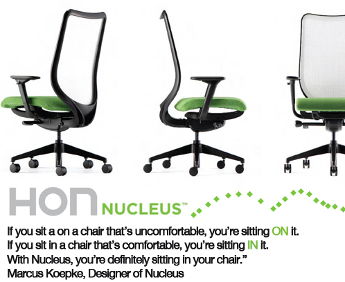 hon nucleus sit comfortably in your new nucleus chair!