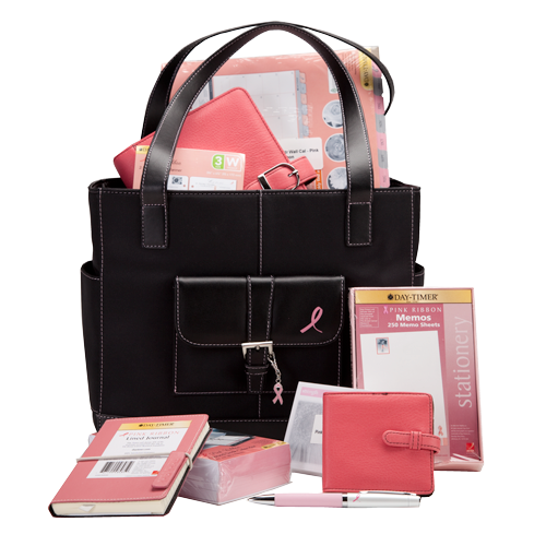 Day timer pink ribbon office product prize pack