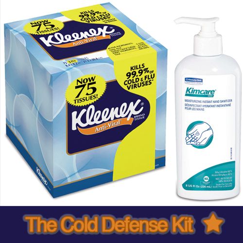 kimberly clark giveaway win a kleenex cold defense kit for the entire office! 