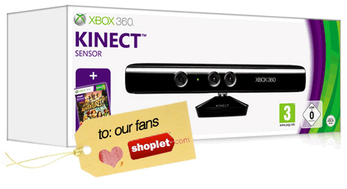 shoplet kinect giveaway LAST DAY TO ENTER: X Box Kinect Giveaway   Thanks to our Fans!