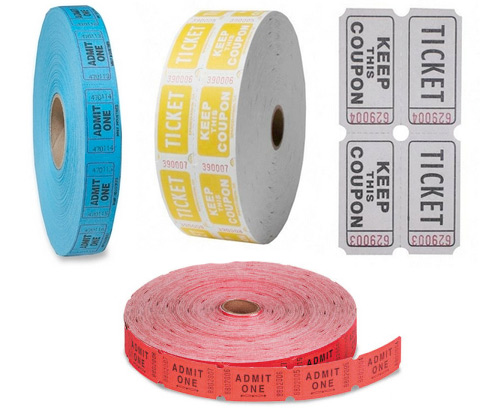 admit one roll anthropologie and diy with ticket rolls