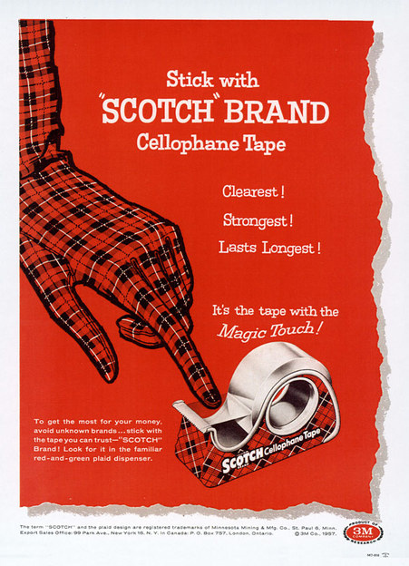 scotch ad 3 scotch tape plaid