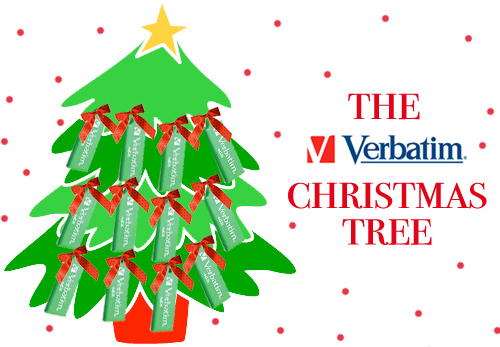 verbatim christmas tree win a present from the verbatim christmas tree!