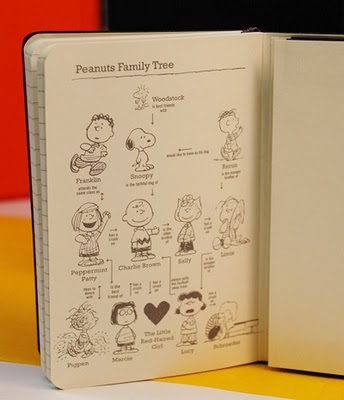 moleskine special edition peanuts   back inside cover features the peanuts family tree large best of office supplies weekend roundup 29