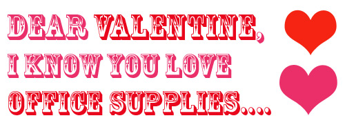 valentine office supplies Valentines Day Office Supplies Packages