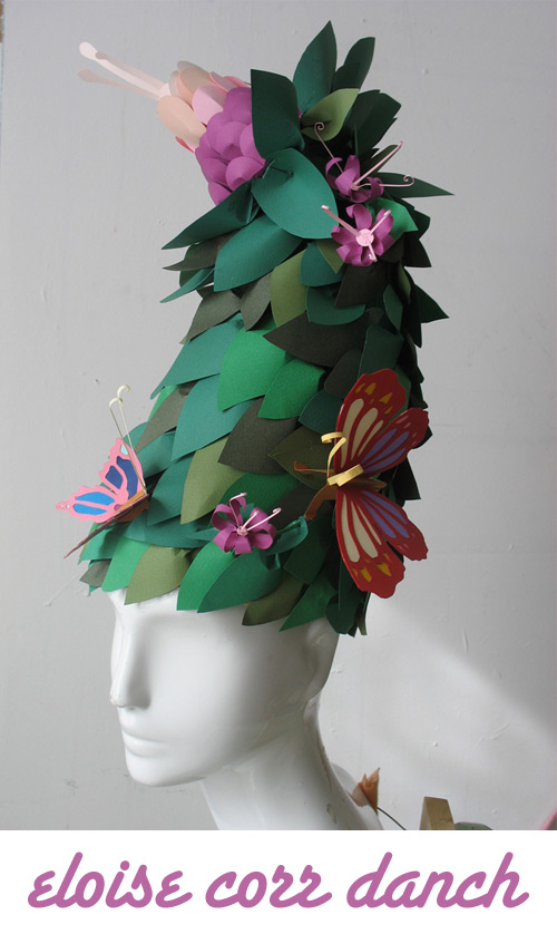 eloise corr danch paper flower hat Paper Artist   Eloise Corr Danch
