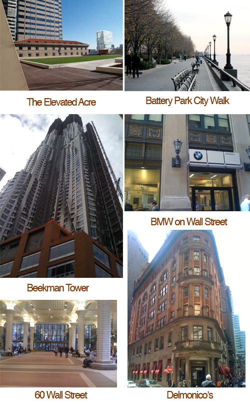 places to visit wall street area Financial District Favorites