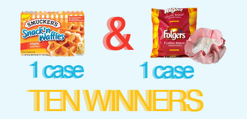 ten winners folger giveaway free breakfast from Folgers!