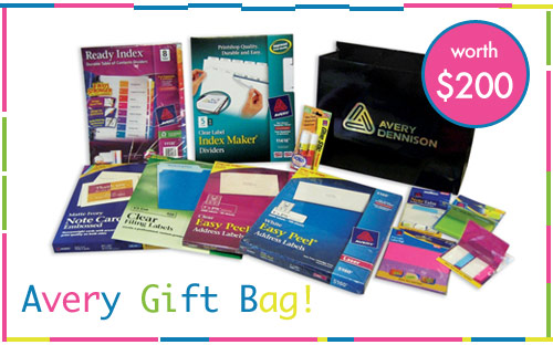 avery gift bag giveaway $200 Avery Gift Bags for 3 Winners!
