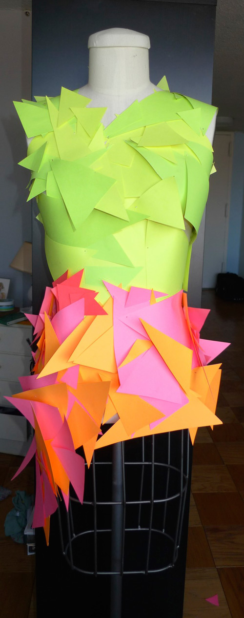 paper triangle dress front Paper Triangle Dress