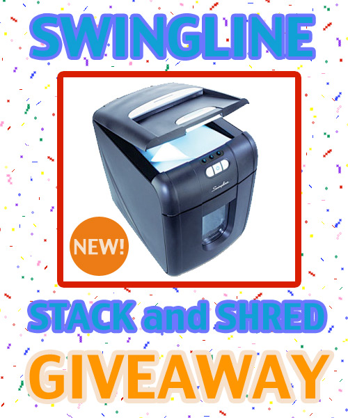swingline stack and shred giveaway Win the NEW Swingline Stack and Shred Shredder!