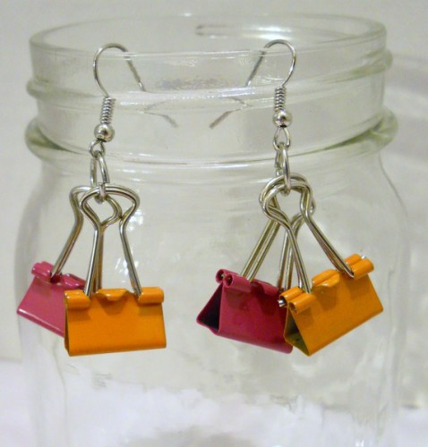 binder clip earrings 478x500 *etsy* office supply find   May 6