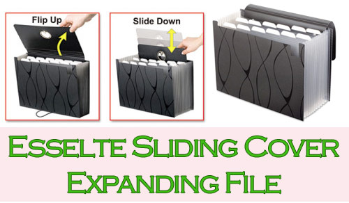 esselte sliding cover expanding file giveaway Esselte Giveaway!