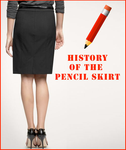 history of the pencil skirt shoplet