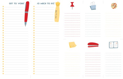 office supply printable lists *etsy* office supply find   May 2