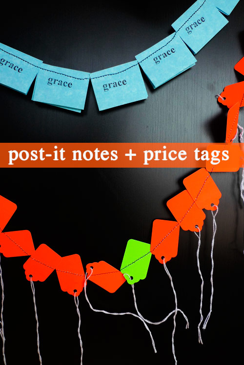 post it note price tag garland make your own office garland