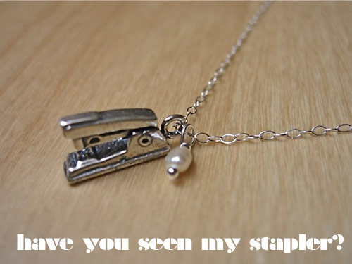 stapler necklace *etsy* office supply find   April 29