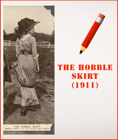 the hobble skirt history of the pencil skirt