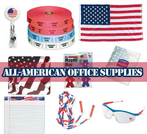 american flag red white blue office supplies happy memorial day