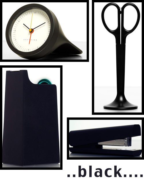 black office supplies Anything Design Office Supplies