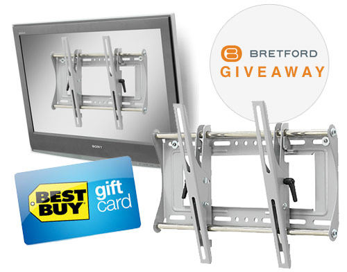 bretford tv mount best buy gift card giveaway shoplet