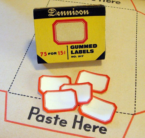 dennison gummed labels *etsy* office supply find   May 19