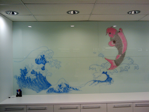 dry erase fish mural best of office weekend roundup 46