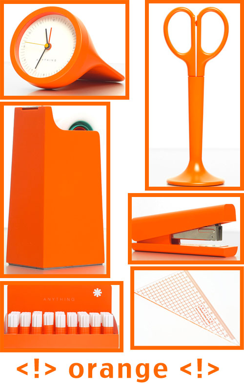 orange office supplies Anything Design Office Supplies