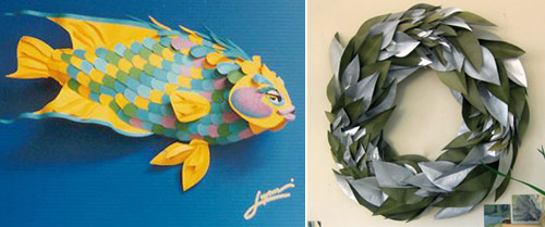 paper fish paper leaf 2 Paper Leaves and Paper Fishes for Moms Day