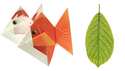 paper fish paper leaf Paper Leaves and Paper Fishes for Moms Day