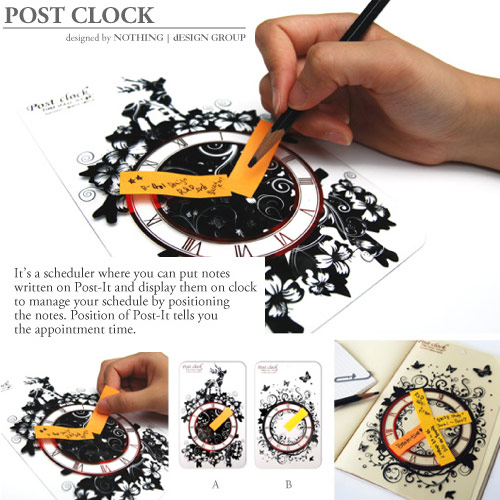 post it note clock nothing design group office supplies
