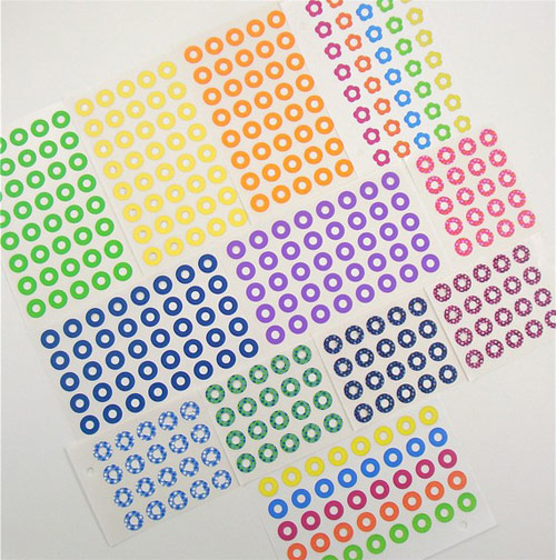 rainbow hole reinforcement labels *etsy* office supply find   May 27