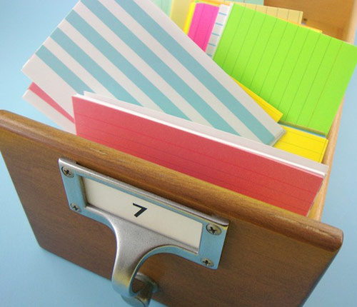 rainbow index cards 3 *etsy* office supply find   May 23